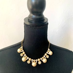 Charter Club Pearl & Crystal Necklace